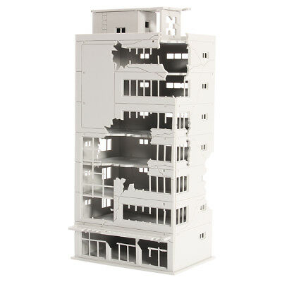 N Scale 1/144 Ruined Building White After War Assembling Model For GUNDAM Scene