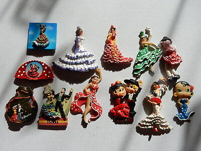 One Selected 3D Souvenir Fridge Magnet from Spain Flamenco Dancer/s