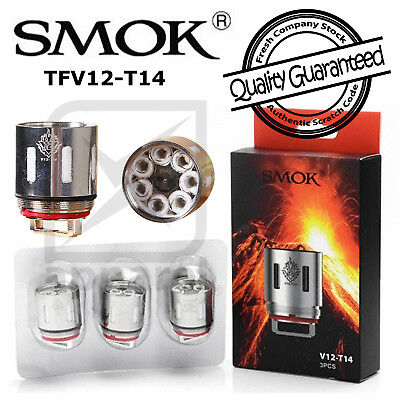 Authentic SMOK V12-T14, TFV12 T14 Coils (3-Pack) for TFV12 Cloud Beast Tank