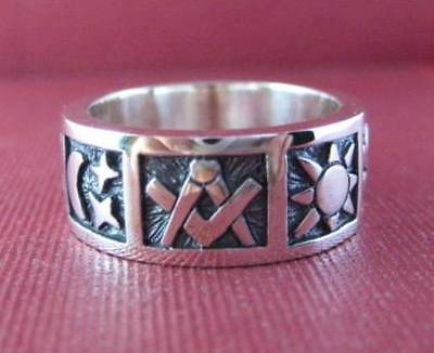 Solid Sterling silver Masonic ring - 2347