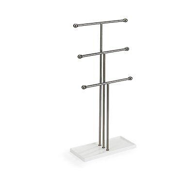 T bar Extra Tall Simple Jewelry Stand Necklace Bracelet Tree Display Holder Gif.