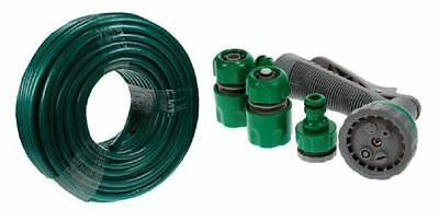 New 30m Hose And Spray Gun Set 3 Layer Reinforced Braided Hose Pipe Garden Home