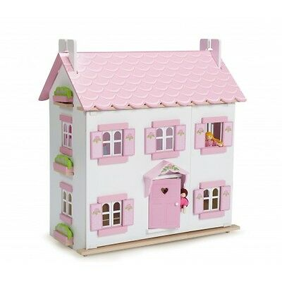 Le Toy Van Sophie's House with Sugar Plum Furniture and Dolls,  Dollshouses