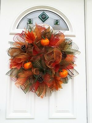 handmade fall / autumn wreath decoration suitable for indoor and outdoor use