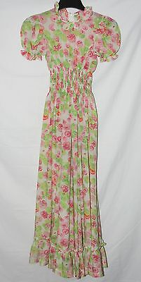 Vintage Girl's Floral Maxi Bridesmaid Dress