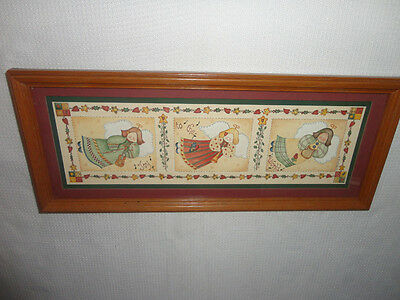 Home Interiors '' 3 Angels '' Picture  Gorgeous Hangs H & V  7.5'' x 18.5'' SALE