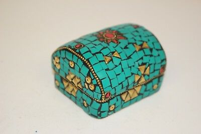 Indian Hand Painted Jewellery Box Authentic Small Trinkets Rings Earrings