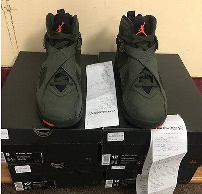 39b9d7e5da8f Nike Air Jordan 8 VIII Retro Take Flight Sequoia Black Undefeated 305381 305
