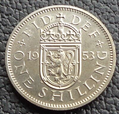 1953 Elizabeth II Proof Scottish Shilling Ref 1756