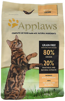 Dry Cat Food Health, Wellbeing Adult 80% Protein Chicken + 20% Vegetables 400g