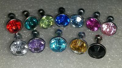NEW .!! 3.5 mm ANTI DUST BLING GEM PLUG COVER CHARM FOR MOBILE PHONE / TABLET