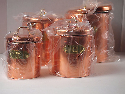 Copper Tone Canister Set of 4