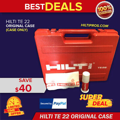 Hilti Te 22 (Tool Case Only), Good Condition, Strong, Original, Fast Shipping