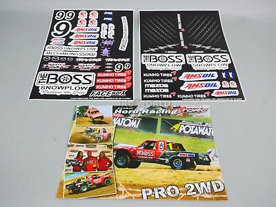 RC 1/10 Short Course Baja Truck Decals Stickers  THE BOSS SC10 Slash  *NEW*