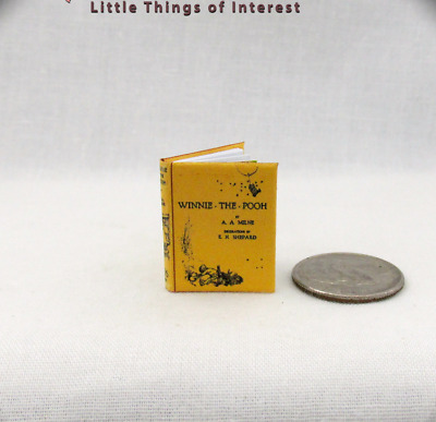 WINNIE THE POOH Miniature Book Dollhouse 1:12 Scale Illustrated Readable Book