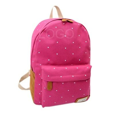 Girl Backpack Casual School Rucksack Travel Satchel Shoulder Bag Rose Red New