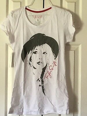 Taylor swift white t shirt new with tags Ladies size Small