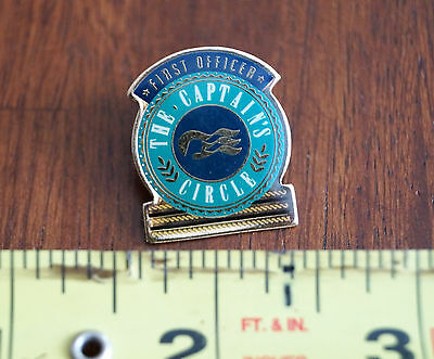 Princess Cruises The Captains Circle First Officer Vintage Pinback