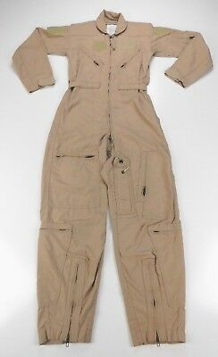 08f30dd9c32 US Military Desert Tan Summer FR Coveralls CWU-27 P Flyers Flight Suit 34