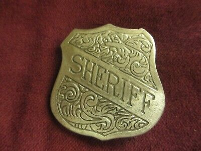 Sheriff badge, replica, Cowboy