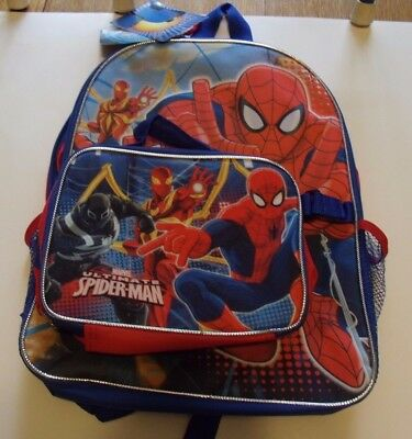 Marvel Boys' Spiderman, Backpack with Lunch Kit by Comfort