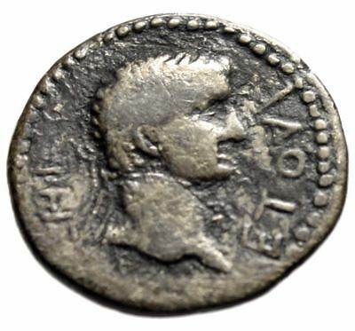 """Britannicus & King Polemo II of Pontus AR Drachm """"Busts"""" Dated Year 18 55/56 AD"""