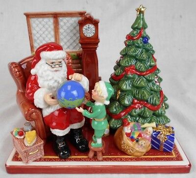 Royal Doulton Porcelain Holiday Traditions Collection Santa's World Travels