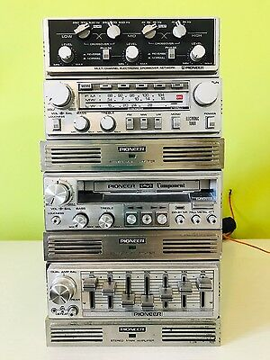 Pioneer component crossover cd 646 gex 63 kp 707g equ cd5 più 3 ampl gm4 vintage