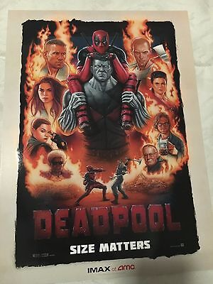 Deadpool  Movie Poster Exclusive to AMC IMAX 9.5x13