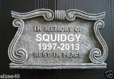 Pet Monument Memorial Grave Marker Headstone Personalised or Blank