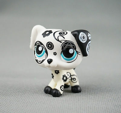 Littlest Pet ShopLPS 208 Toys Puppy Black-and-White FlowerGift Dalmatian Dog
