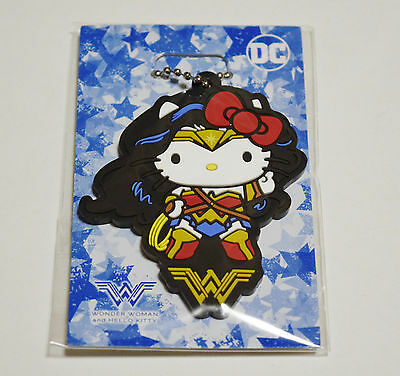 Wonder Woman Hello Kitty DC collabo official key chain Japan limited goods