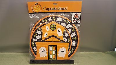 Cup Cake Stand Halloween Ghosts 2 Tier Party Decoration Card Board