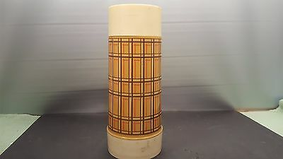 Vintage ALADDIN Best Buy Wide Mouth Plaid Thermos Bottle