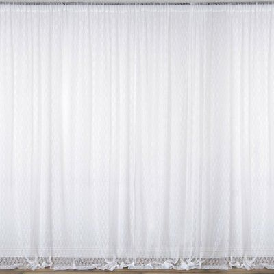 WHITE 10 x 10 ft Sheer Lace BACKDROP CURTAINS Drapes Panels Home Decorations