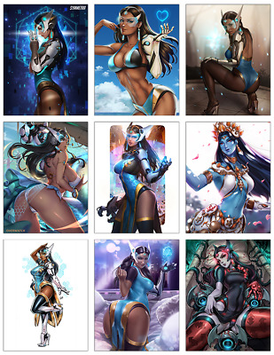 "OVERWATCH - Symmetra 9-pc Stickers Set - 2.5""x3.25"" (PS4, XBOX, GAME, NOTEBOOK)"