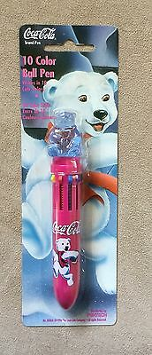 Vintage Coca-Cola 10 Color Ball Pen 1996  New/Sealed Pentech Rare Polar Bear HTF