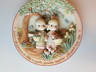 Precious Moments Gentle Blossoms Sisters Are Forever 3-D Sculpted Plate #5442A