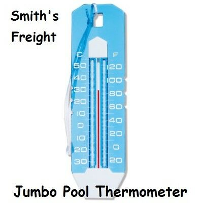 Ocean Blue Swimming Pool Spa & Hot Tub Jumbo Thermometer Blue & White