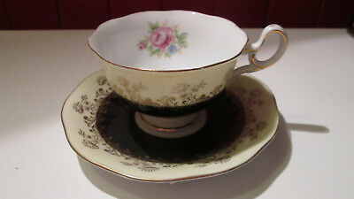 Occupied Japan Tea cup and saucer flowers pattern