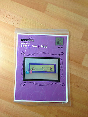 Stitchopolis Easter Surprises Cross Stitch Sewing Pattern and Charms