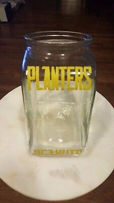 Vintage 1930/40's Planters Peanuts Glass Jar General Store Counter Display Sign