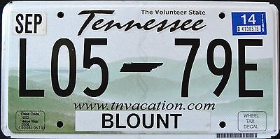 "FREE US SHIP - TENNESSEE "" VOLUNTEER STATE  "" 2014 TN Graphic License Plate"