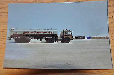 Iraqi Freedom OIF 1st Armored Photograph 5 x 7 Local fuel tanker coming on base