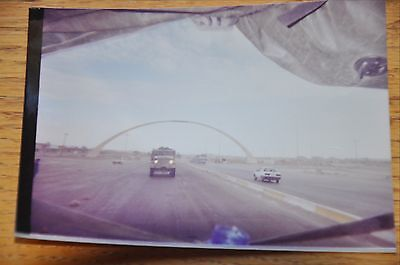 Iraqi Freedom OIF 1st Armored Photograph 3 x 5 Welcome to Baghdad convoy