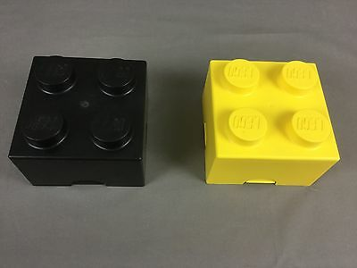 2 Lego Brick Lego Storage Containers/ Lunch Boxes