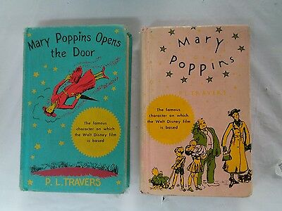Lot of 2 Vintage MARY POPPINS Books