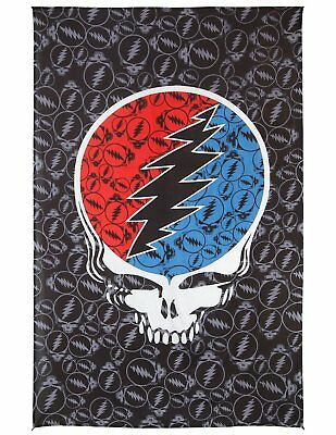 Grateful Dead Steal Your Face Huge Tapestry Wall Art Beach Sheet 52x80 inches