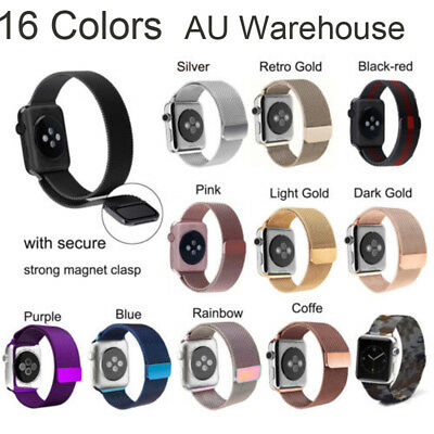 Milanese Magnetic Loop Stainless Steel Strap Band For Apple Watch Series 3 /2 /1
