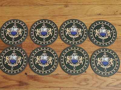 """SET OF 8 Heraldic Coasters - CAHILL - Coat of Arms Crest New 3 1/2"""" Round"""